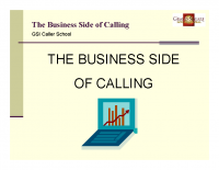 Business Side of Calling