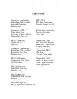 Conversions, new FASR names